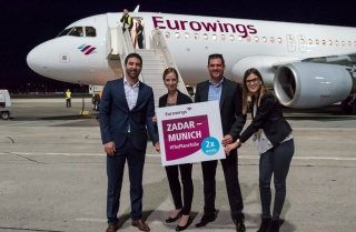 From February 17th until March 1st 2020 Eurowings will fly from Germany to Zadar